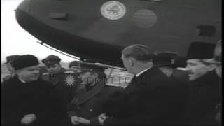 Anthony Eden arrives for the Yalta Conference in Crimea, Soviet Union during Worl...HD Stock Footage