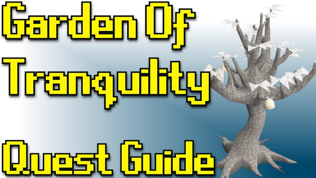 Rsquest Garden Of Tranquility Quest Guide Runescape Rs3 Youtube