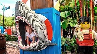 Milusik Lanusik  in the park Legoland for children