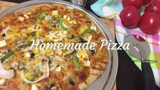 Homemade pizza | Pizza Recipe | Perfect Homemade Pizza | How to make pizza at home? | Veggie Pizza