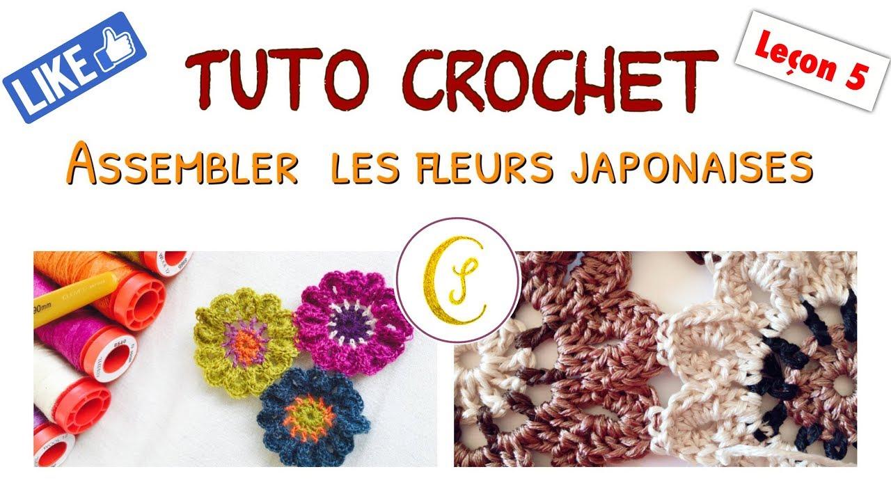 tuto fleur japonaise au crochet - leçon 5: comment crocheter les