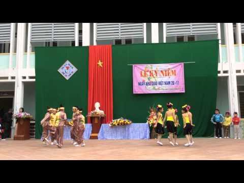 Tiết mục múa Dân gian-khối 4-trường tiểu học Hoàng Hoa Thám- Thanh Hoá.