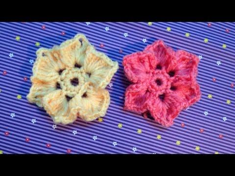 Hướng dẫn móc hoa len - Mẫu hoa lan 6 cánh
