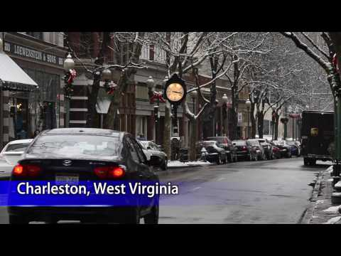 Downtown Charleston First Snow of 2017