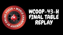 WCOOP 2018   $25,000 NLHE Event 43-H with Linus Loeliger