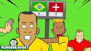 BRASIL 🇧🇷 1 X 1 🇨🇭 SUIÇA - COPA 2018 - Melhores MOMENTOS!! (Animação de FUTEBOL) ⚽🍿