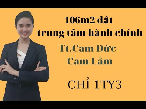Chỉ 1ty3 sở hữu ngay lô đất thổ cư trung tâm hành chính huyện Cam Lâm [Ái Mỹ 0395 787 077]