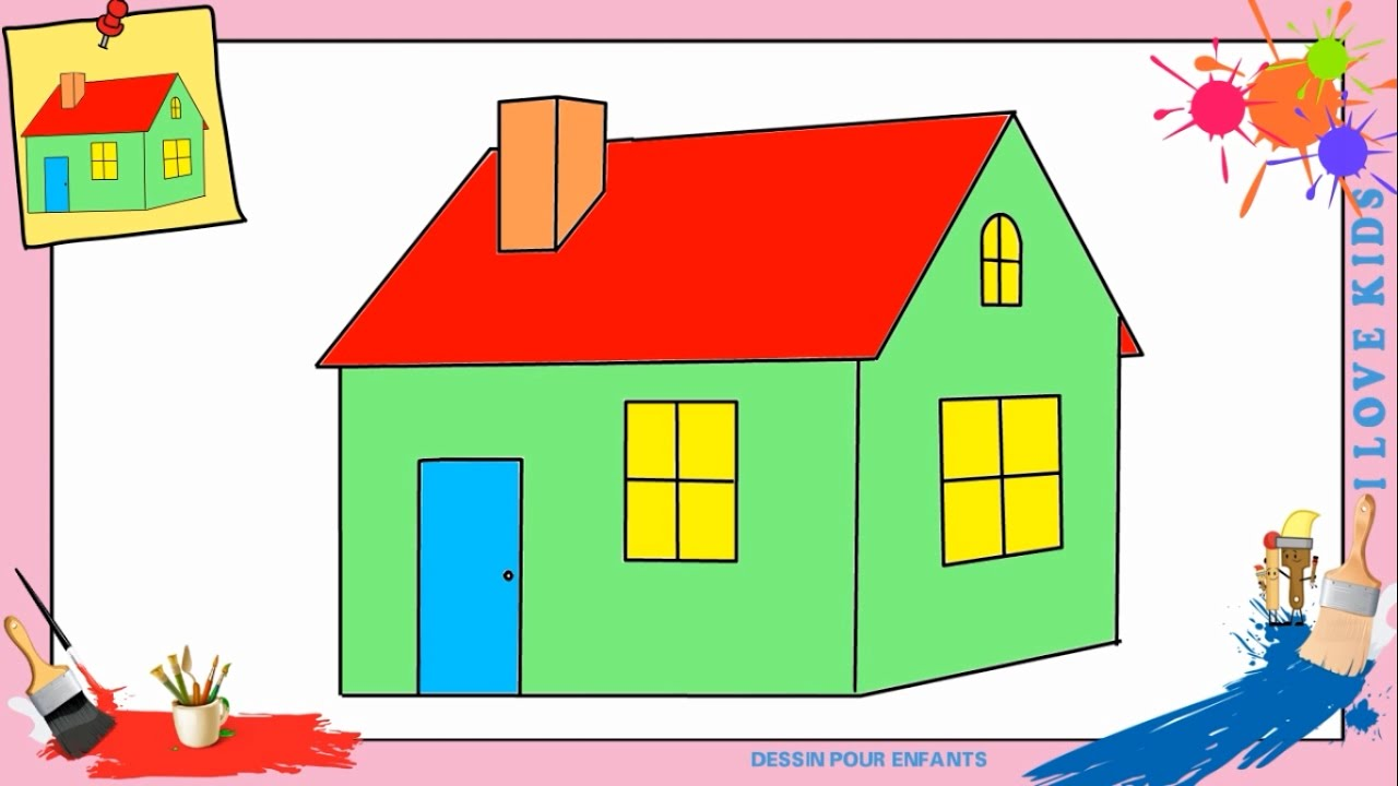 dessin maison 2 comment dessiner une maison facilement etape par etape pour enfants youtube. Black Bedroom Furniture Sets. Home Design Ideas
