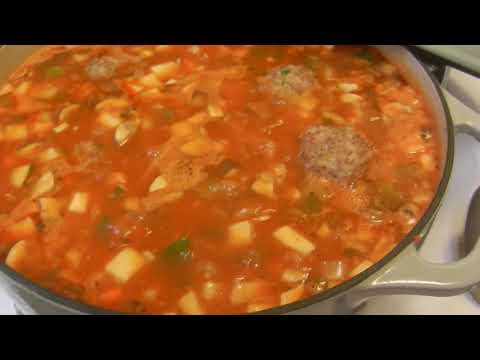 Mary's Turkey Chicken Meatballs with Farfalloni Soup! Part 2