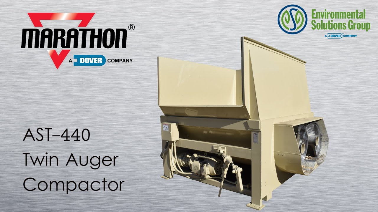 AST-440 Dual Auger Compactor - YouTube