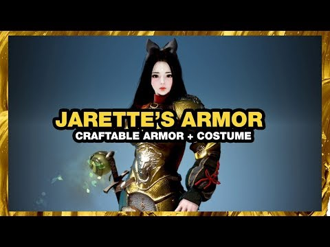 BLACK DESERT ONLINE Jarette's Armor CRAFTABLE COSTUME