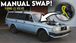 homepage tile video photo for Manual-Swapping my Turbo LS6 VOLVO WAGON SLEEPER!