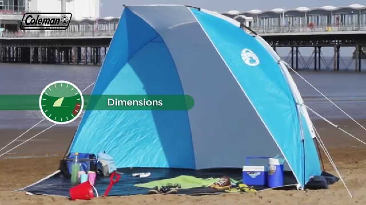 & Coleman® Sundome - Lightweight shelter for the beach - YouTube