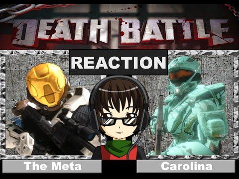 DEATH BATTLE (RvB) REACTION!! Carolina VS. The Meta: Dawn of Awesome WARNING! 18+