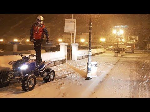 Quad fun in snowy Ulcinj/Ulqin 2018