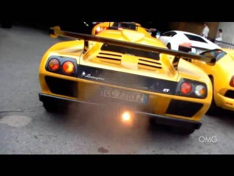Lamborghini Diablo Gt 16 80 Loud Sound Backfire Hard Revving And
