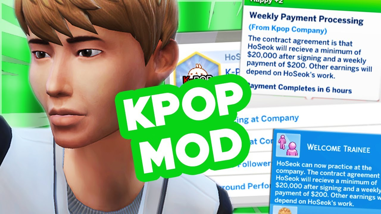Realistic Kpop Career The Sims 4 Mods Youtube