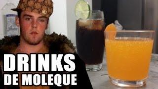 Drinks de Porre de Moleque (Como fazer CUBA LIBRE e HIGH FI)