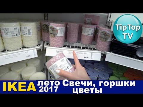 ИКЕА ЛЕТО 2017 СВЕЧИ ЦВЕТЫ ГОРШКИ IKEA ТИП ТОП ТВ