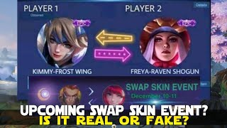 UPCOMING SKIN SWAP EVENT? IS IT REAL OR JUST A HOAX? MOBILE LEGENDS UPCOMING EVENTS MLBB NEWS!