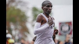 HAIL THE KING: Eliud Kipchoge makes history