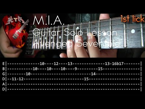 M.I.A. Guitar Solo Lesson - Avenged Sevenfold (with tabs)