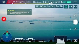 DJI Phantom 4 Pro Range Test FarOut 6.5Km /  21,325 feet / 4.04 miles ONE WAY!!!