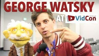 George Watsky talks with Professor Puppet at Vidcon