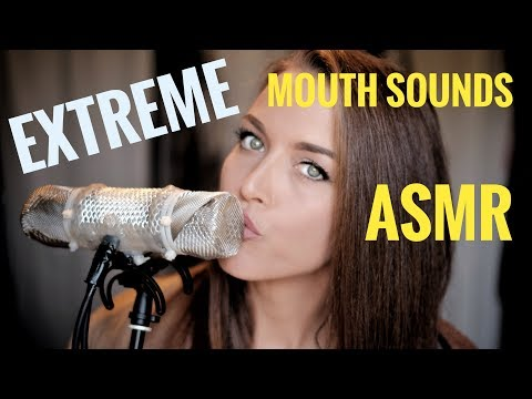 ASMR Gina Carla 👄 Ultra Extreme High Sensitive Mouth Sounds! Very Close Up Whispering!