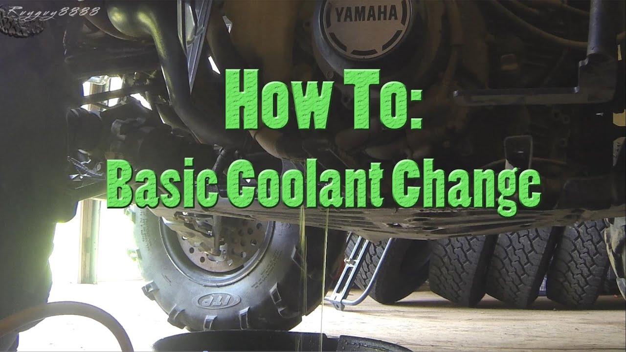 How To Basic Maintenance Coolant Change