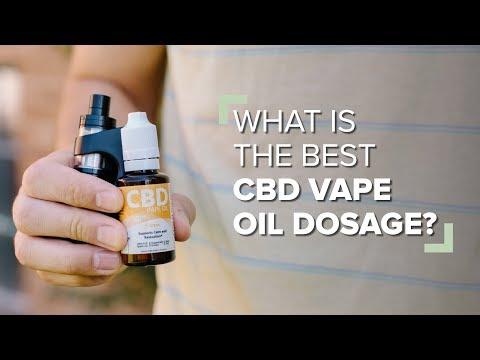 What Is The Best CBD Vape Oil Dosage?