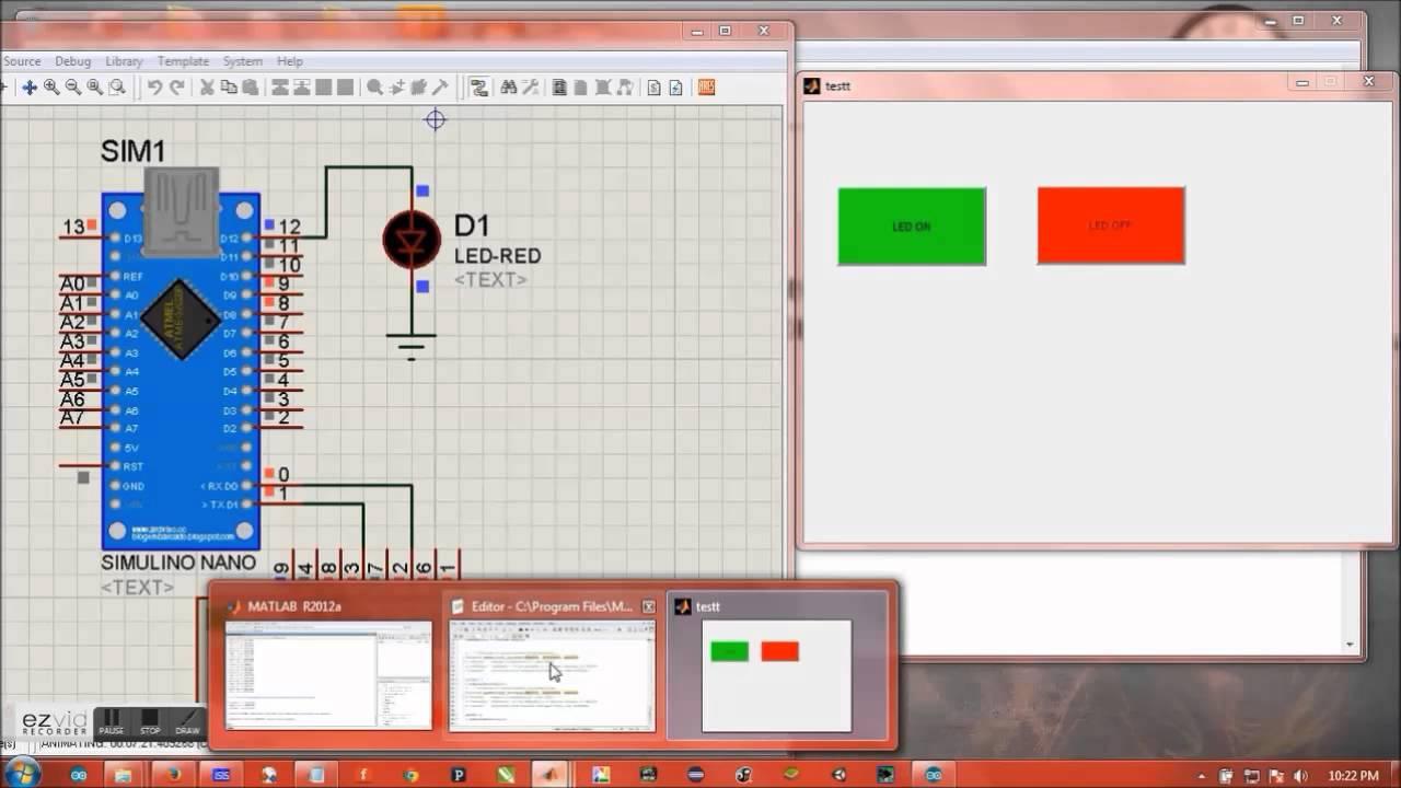 Matlab gui proteus arduino serial port communication