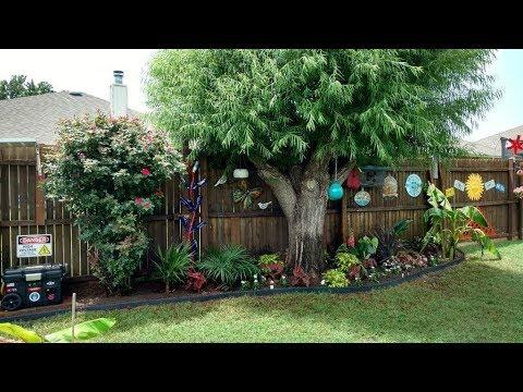 small backyard tropical garden