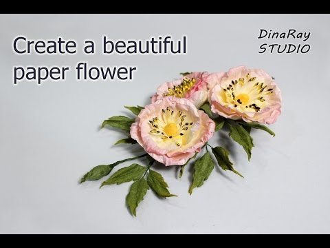 Create a beautiful paper flower