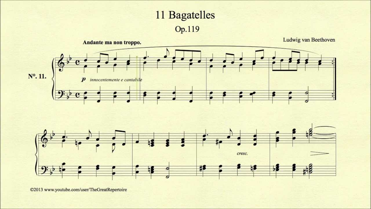 About '11 Bagatelles Op.119 o.1'