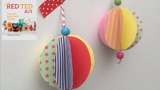 Christmas Crafts - Easy Paper Bauble How To