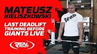 Mateusz Kieliszkowski - Last Deadlift Training Before Giants Live