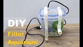How to Make: DIY Aquarium Filter ( Hanging Filter )