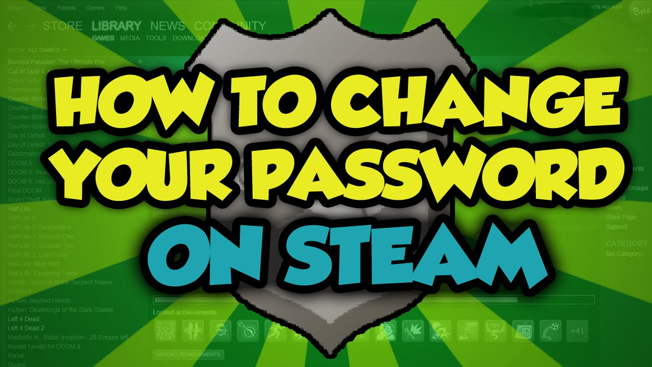 How To Change Your Password On Steam  Steam Change Password Tutorial Youtube