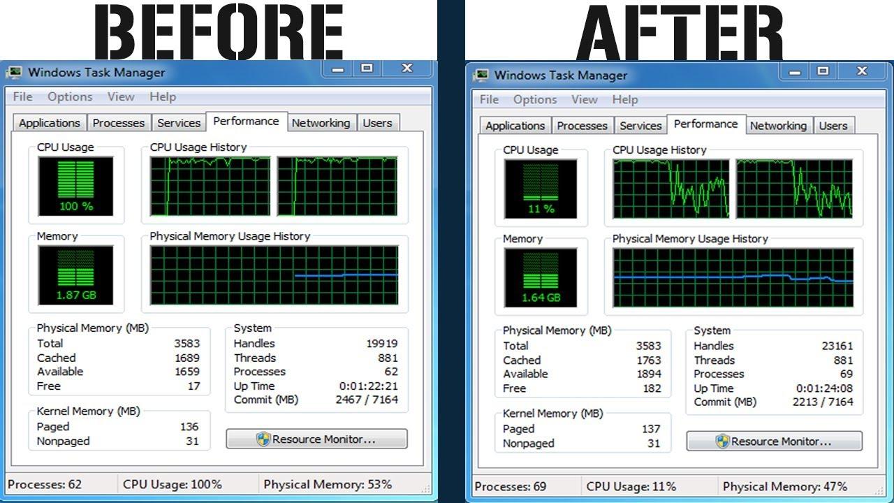 cpu usage 100 windows vista fix