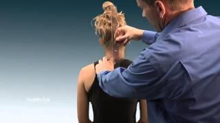 Goniometric measurement of cervical lateral flexion