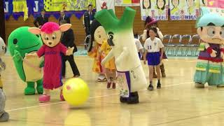 女子ハンドボール オムロン×HC名古屋 ハーフタイムにくまモン登場