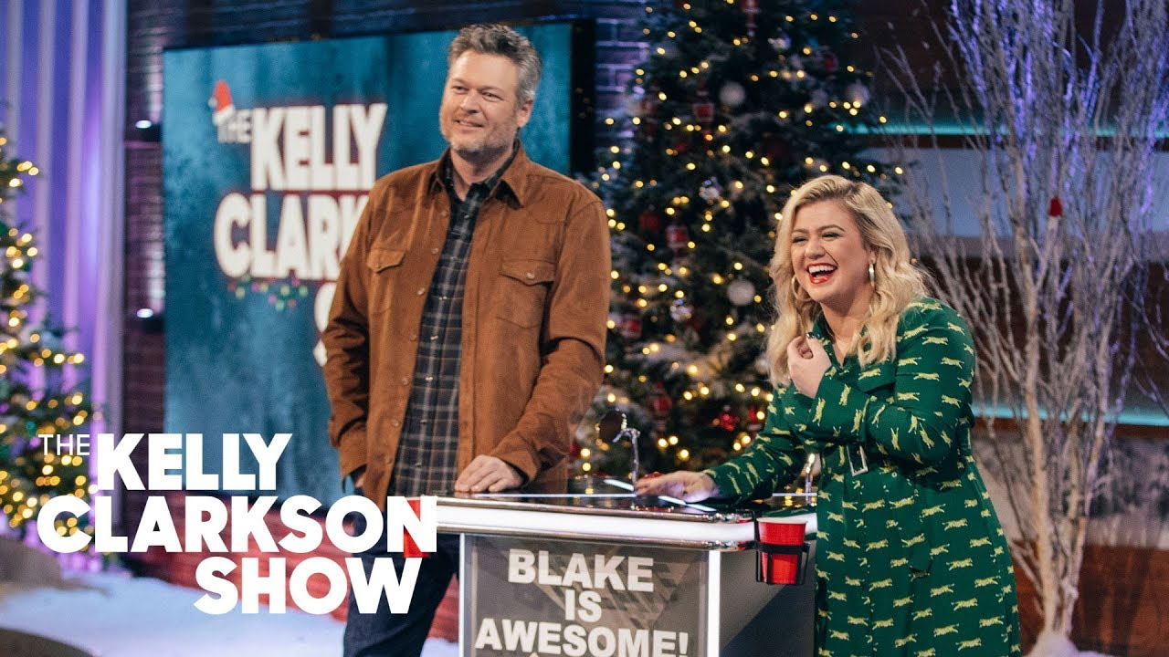 Blake Shelton Tricks Out Kelly Clarkson's Games With A Wild Podium