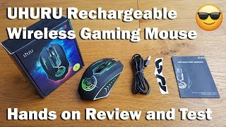Wireless Gaming Mouse by UHURU [Hands on Review and Test]
