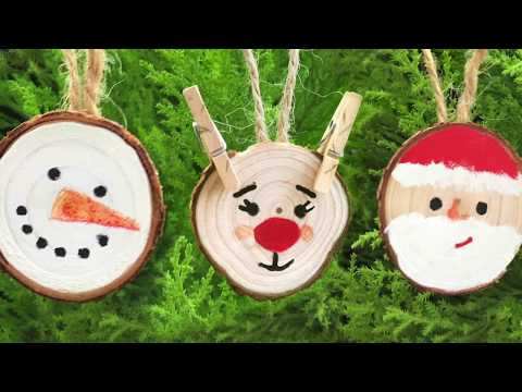 DIY Easy Wood Slice Ornaments for Christmas-Craft Project For Kids and Adults- Nunismas Day 2