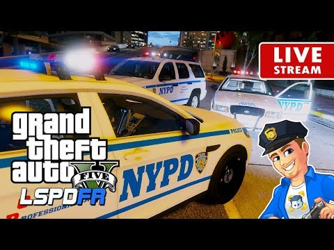 GTA 5 LSPDFR LIVE PATROL - NYPD New York City Police Department | LSPDFR Police Patrol Real Life Mod