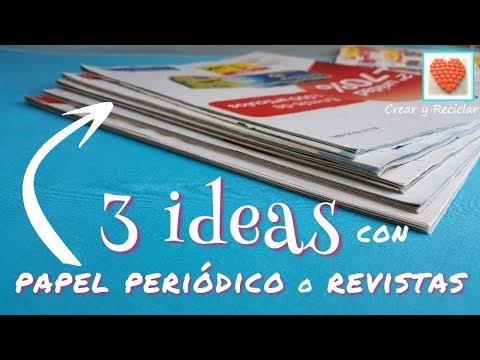 3 Ideas con Papel de Revistas  #RetoReciclajeCreativo