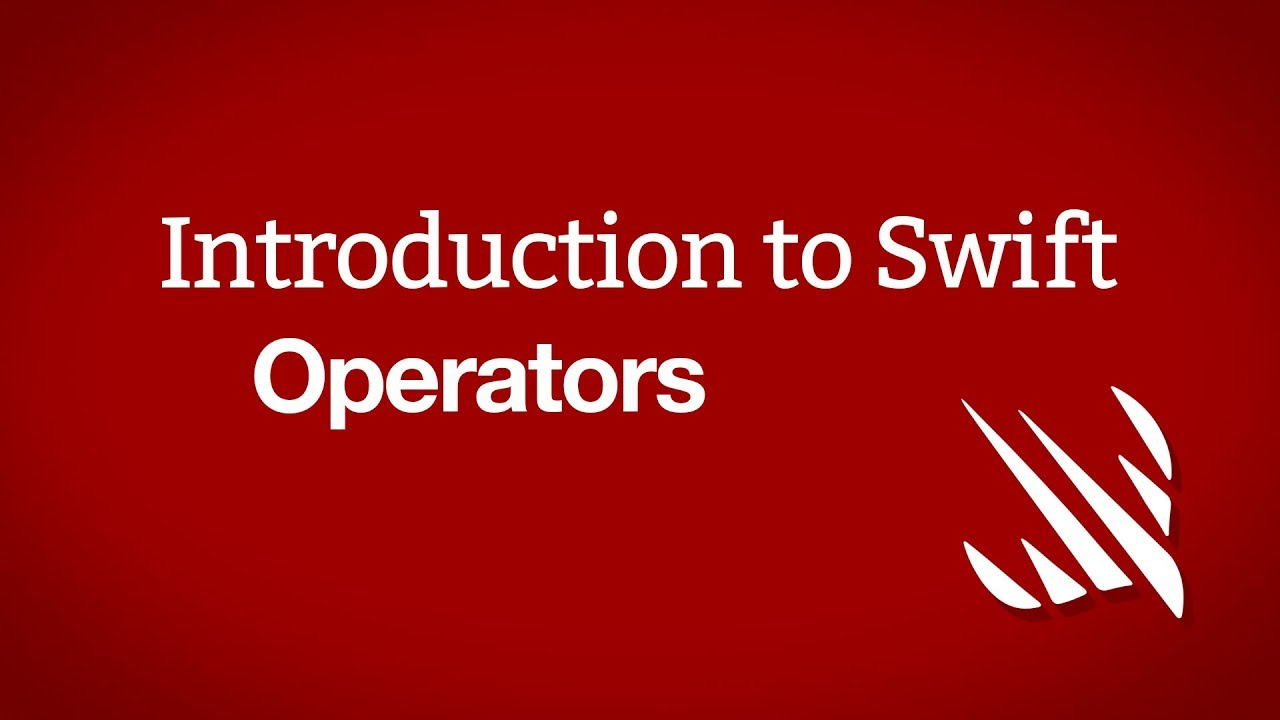 Introduction to Swift: Operators