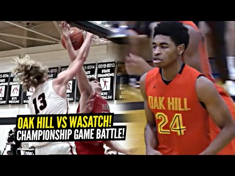 Oak Hill Academy vs Wasatch Academy GO AT EACH OTHER In Championship Game!!