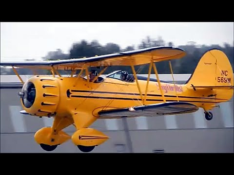 GoPro Flight In WACO YMF-5C (Classic Aircraft Corp.) Biplane At Fullerton Airport Day 2015